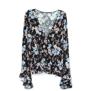 American Eagle Womens Soft & Sexy Floral Crepe